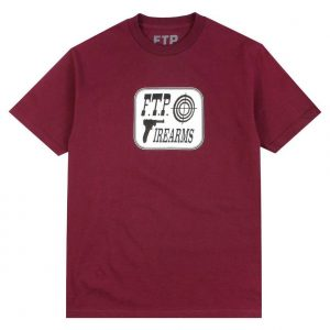 FTP Firearms Tee Burgundy