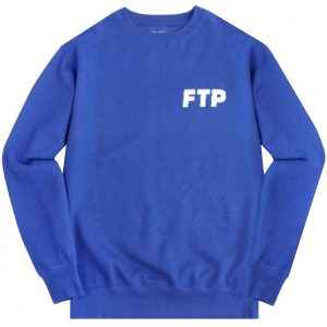 FTP Pixel Logo Crewneck Large Royal Blue