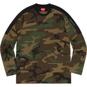 Supreme Paneled L/S Top Woodland Camo - Large