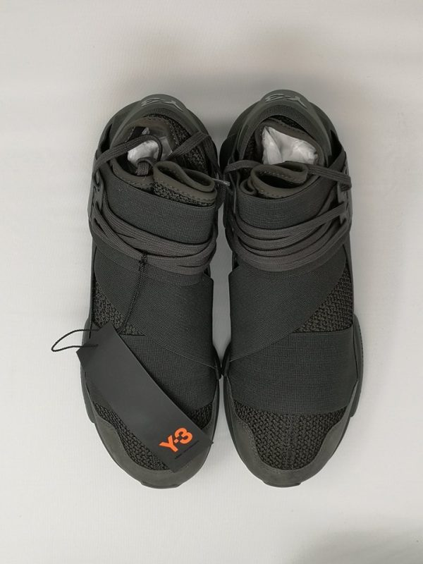 Y3 Qasa High Black Olive Size 8